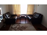 Leather sofas with the table at low prices