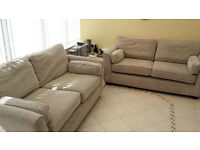 Two matching 2 seater sofas