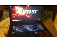 MSI GP72 7RD Leopard Gaming Pro laptop £850 (no offers) mint condition, collection from Hounslow