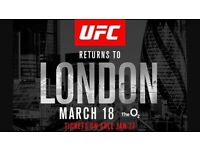 4x UFC London tickets 18th march.