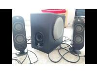 Logitech speakers and bass sub woofer