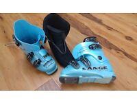 Unisex Kids Lange Ski Boots (size 13.5 - 1) - Mondo point size 20 -20.5