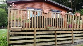 Traditional Timber Lodge in Lake District. Spacious living area, - large Wrapround balcony