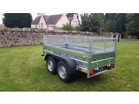 New trailer 10 x 5 twin axle-build with mesh and braked 2700kg £ 2000 inc vat