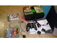 XBOX Original with all cables, a controller and 4 games
