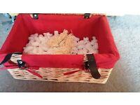 Hamper Basket Wicker Picnic Storage Props _ NEW