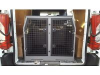 Trans K9 / B10 Double Dog Crate for a Van.