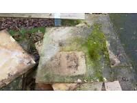 Used concrete slabs