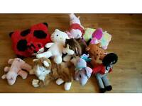Job lot of teddies