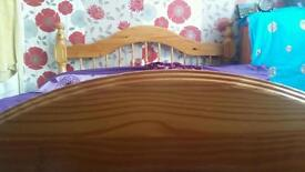 Pine wood double bed