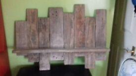 hand made wood shelf