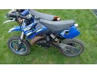 Blue mini moto dirt bike