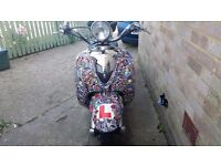 Lexmoto valencia 50cc moped ( custom sticker bomb )