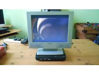 DVD Player, Monitor and Freeview Box