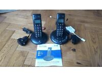 BT cordless phone twin set with answering machine