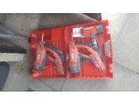 2x Hilti GX120-ME Gas Nail Guns