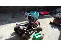I have a girls 50cc quad rev and go full working order with 2 keys and few extra was new in january