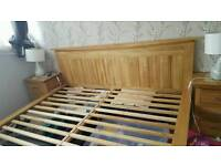 Super King size Bed, Matress and two bedside tables
