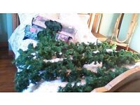 APPROX 40ft OF GARLANDS,..MOST WERE NEVER USED..BARGAIN..70 OTHER GREAT ITEMS..SEE ALL ADS AND PICS