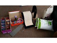 Cat food, scratching post, purrfect arch, furminator