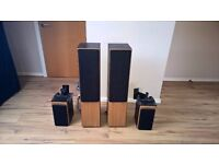 Tannoy Loudspeaker System with Satellite Speakers (wall mounts included)