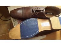 Dune brown leather dress shoes size 13 £60 brand new not worn.