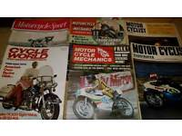 24 x VINTAGE MOTORCYCLE MAGAZINES 1969-1973 MOTORCYCLIST ILLUSTRATED
