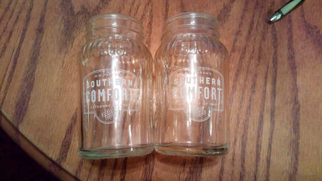 Southern Comfort Jar Glasses