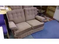 Very Light Brown Three-piece Suite in Excellent Condition