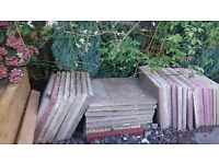 Reclaimed slabs approx 20 used slabs 2x 2 and 2 inch thick £1.00 each