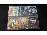 6 Games PS3 - Guitar Hero/Rock Band + guitar