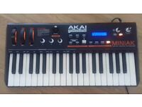 Akai Miniak Synthesizer, in great condition with original box and instructions