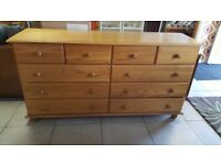 Solid Pine 10 Drawer Chest