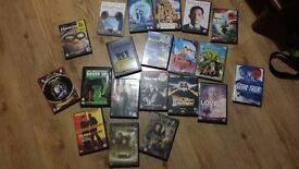 Job lot DVDs