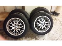BMW 3 series winter wheels and tyres . 205-55-R16 on E46 wheel Goodyear ultra grip avg 5mm tread
