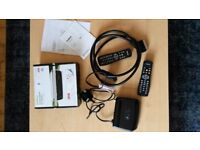 Goodmans Freeview set top box with remotes and cables