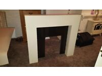 fire surround with marble back panel