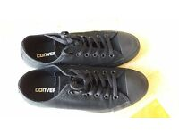 Converse All Star black low top trainers