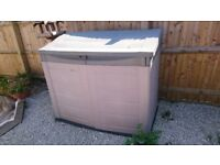 Large 145cm x 120cm x 75cm plastic storage shed for bikes and garden equipment