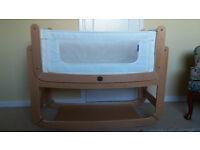 SnuzPod Bassinet co-sleeper, including organic mattress & waterproof cover
