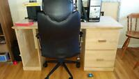 free computer desk and chair