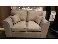 grey 2 seater fabric sofa