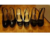 8 pairs of ladies heels and shoes
