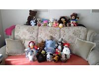 Soft Toys Job Lot £25. Bags of 5 or 6 assorted £5 each.