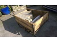 Wood/metal trolley