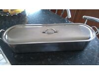 60cm stainless steel fish kettle £20