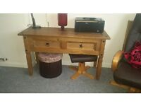 ** Mexican pine hall / dressing table- excellent condition **