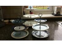 Afternoon tea cake stands.