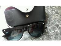 Plain all black ray ban sun glasses