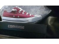 Ladies red converse size 4